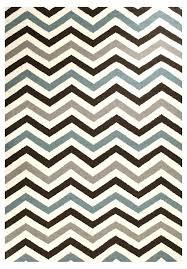 blue and white chevron rug brown flat weave zig zag