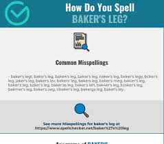 The nato phonetic alphabet is a set of words that makes it easy to communicate english letters over a phone or radio. Correct Spelling For Baker S Leg Infographic Spellchecker Net