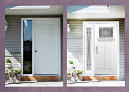 Terrific White Front Door With One Sidelight Images Exterior ideas