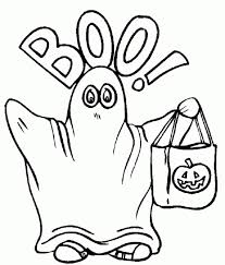Small Picture Kid wearing Ghost costume on halloween coloring pages Fantasy