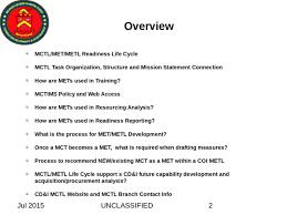 1 Marine Corps Task List Mctl Met Metl Life Cycle Life