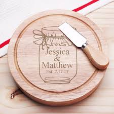 vine jar personalized gourmet 5pc cheese board set