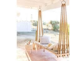 beach house decor wooden rope hammock
