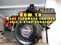 HOW TO Make Your Tecumseh SNOWKING Engine Idle & Stop Surging - YouTube