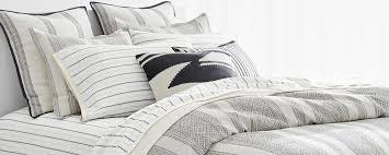 bed with striped sheeting in white navy lauren ralph lauren