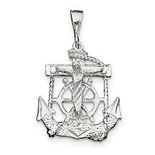 sterling silver mariner cross pendant weight 3 05 grams length 38mm width