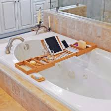 ... Bamboo Bathtub Caddy Bath Tray ...