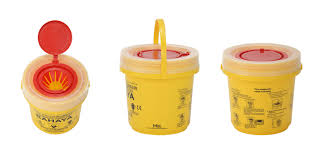 sharp disposal. 2.5 liter - label in bahasa malaysia sharp disposal