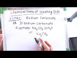 chemical name of washing soda in