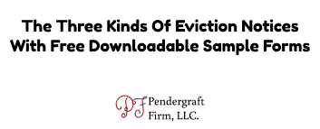 Free Eviction Notice Template Sample Eviction Notice Form Eviction Notice Form Free Downloadable Samples 3 Kinds Of