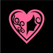 Cool Pink And Black Background Heart Clipart Pink Love Of Female With Black Background Download