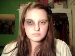 katniss everdeen make up test 1 black eye by eleanestelle
