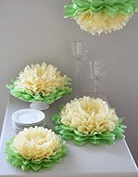 tissue paper flower centerpiece ideas girls party decorations set of 7 mixed pink tissue paper flowers