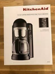 kitchenaid 12 cup coffee maker cup coffee maker with one touch brewing onyx black kitchenaid 12