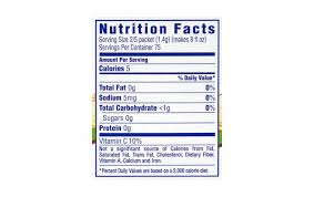 Sugar Free Crystal Light Nutrition Facts Crystal Light On The Go Sugar Free Drink Mix Raspberry Green
