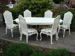 shabby chic dining sets. Shabby Chic French Style Vintage Dining Table \u0026 6 Bergere Chairs. Sets