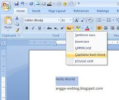 Ms Word Powerpoint Shortcut Key For Lowercase Uppercase And First Letter To Capital