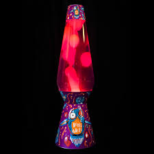 Lava Lamp Purple Yellow Large Owl Design