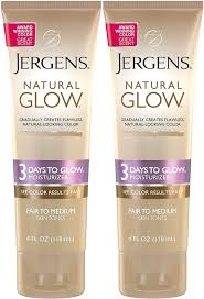 Jergens Natural Glow Light To Medium Jergens Natural Glow 3 Days To Glow Moisturizer Fair To Medium Skin 4 Ounce Pack Of 2
