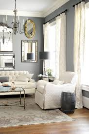 Off White Curtains Living Room How To Hang Drapes Grey Walls Paint Colors And Mirror Walls
