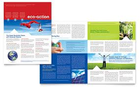Newletter Formats Green Living Recycling Newsletter Template Design