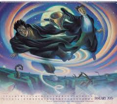 harry potter poster calendar 2018 the ilrations of mary grandpre day dream 9781423824626 amazon books