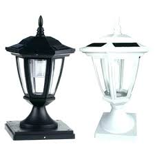 solar fence post lights costco deck set of 2 black carriage . Solar Fence Post Lights Costco Lighting For Lamp Posts