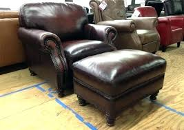 reclining leather chair with footstool