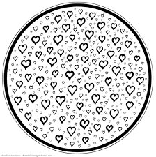 Small Picture Heart Mandala Coloring Pages Printable Coloring Pages