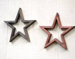 wooden star etsy