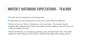 the writer s notebook english ii what is a writer s notebook the  6 writer s notebook expectations