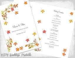 Wedding Fan Programs Templates Printable Program Template Within