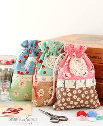 Drawstring Bag Pattern Inspiration Retro Drawstring Bag A Spoonful Of Sugar
