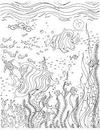 Ocean Habitat Coloring Pages Ocean Habitat Coloring Pages Scene