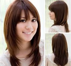 Long Layers With Side Bangs Asian Haircuts For Long Hair With