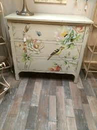 painted bedroom furniture pinterest. Chest Of Drawers Furniture - Shabby Chic Aged Cream Wood Painted Bird Butterfly Bedroom Pinterest E