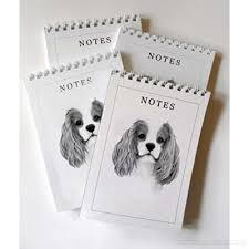 cavalier king charles spaniel dog pack of 4 a6 notepads gift set ej12jeafj