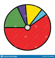 Cute Cartoon Of A Pie Chart Stock Vector Illustration Of