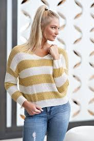 Banana Split Size Chart Banana Split Striped Sweater White Yellow In 2019