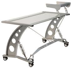 take a spin down the track in our great looking racing themed executive desk features alloy legs braided stainless tension hose strut tower stiffener