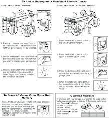 reprogram my remote how to a garage door opener universal keypad instructions er univer