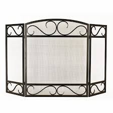 Unique fireplace screens Stained Glass Style Selections 5015in Black Powder Coated Steel 3panel Scroll Fireplace Screen Lowes Fireplace Screens At Lowescom