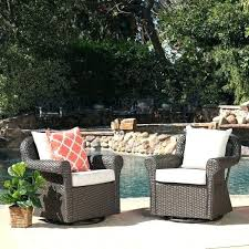 outdoor wicker swivel rocking chair with cushion set of 2 by knight rattan rocker replacement cushions