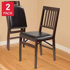 Unique dining room chairs Wooden Dining Stakmore Solid Wood Upholstered Folding Chair Espresso 2pack Costco Wholesale Dining Room Chairs Costco