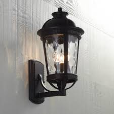 john timberland provence 18 high black outdoor wall light