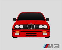 BMW E30 M3 // M3 Poster // BMW 3 Series // M Power // 1985