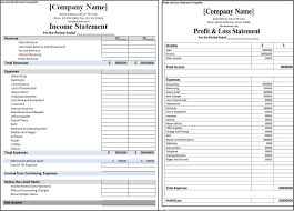 Profit And Loss Statement For Restaurant Template Profit And Loss Statement Vs Income Statement Profit Loss