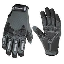 kobalt mens synthetic leather high performance gloves