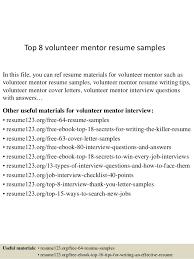 Mentor Resume