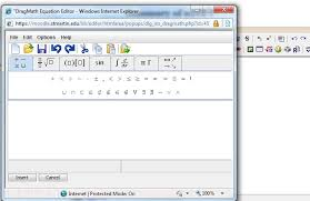 mathtype available in microsoft word as a tab at the top of the page lets you type out and insert math equations into a word doent